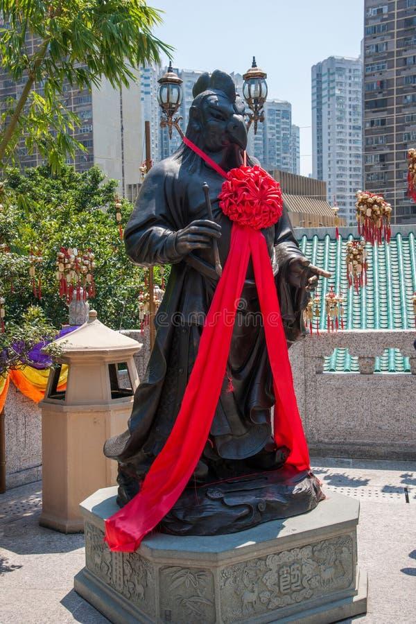 Statua del rame di Wong Tai Sin Temple Zodiac fotografia stock