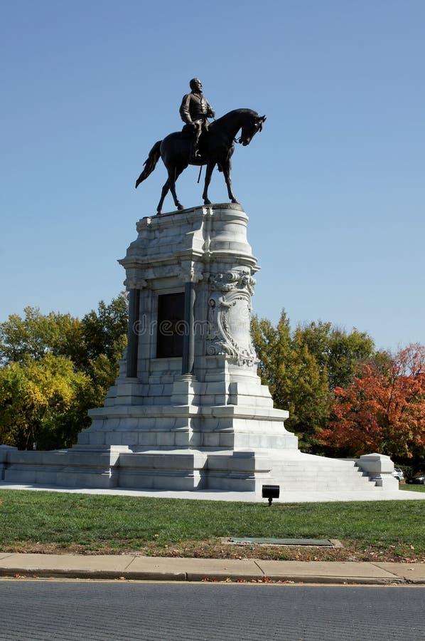 Statua del Robert E. Lee immagini stock libere da diritti