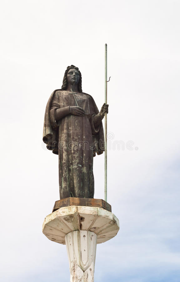 Statua del san Rosalia a Palermo immagini stock