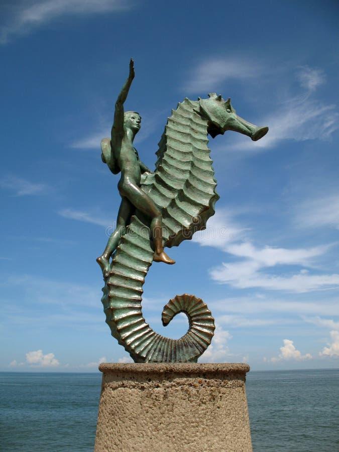 Statua del Seahorse fotografia stock