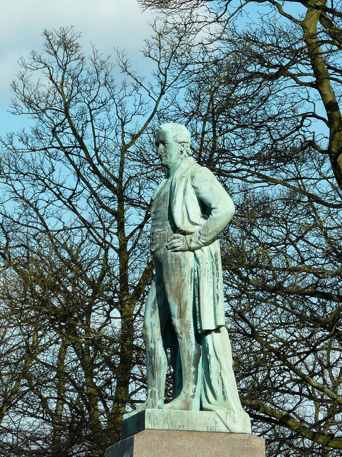 Statua del sir Robert Peel fotografia stock