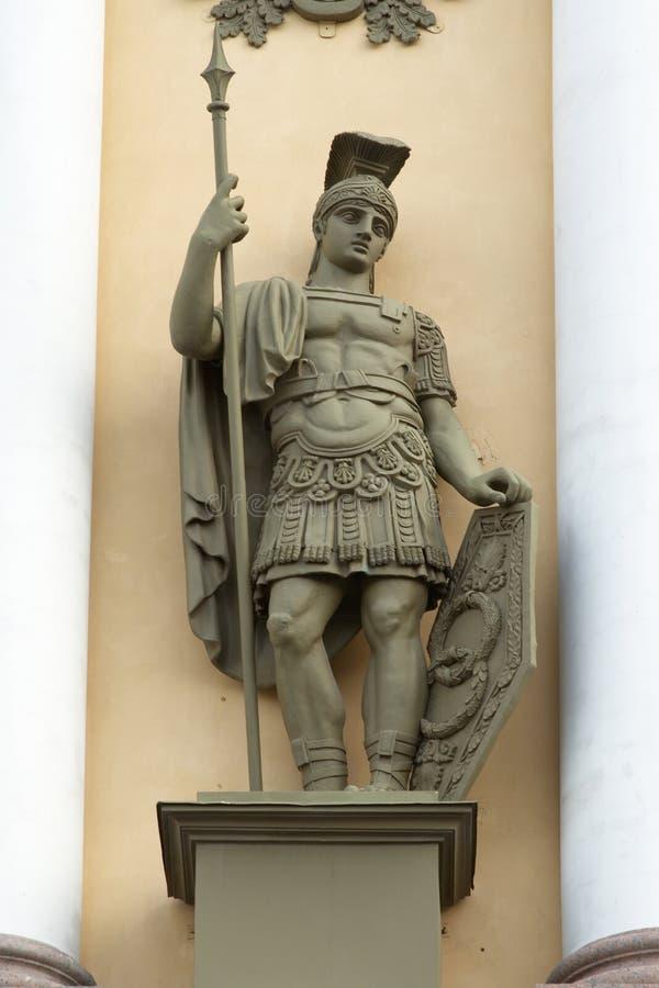 Statua del soldato fotografia stock libera da diritti
