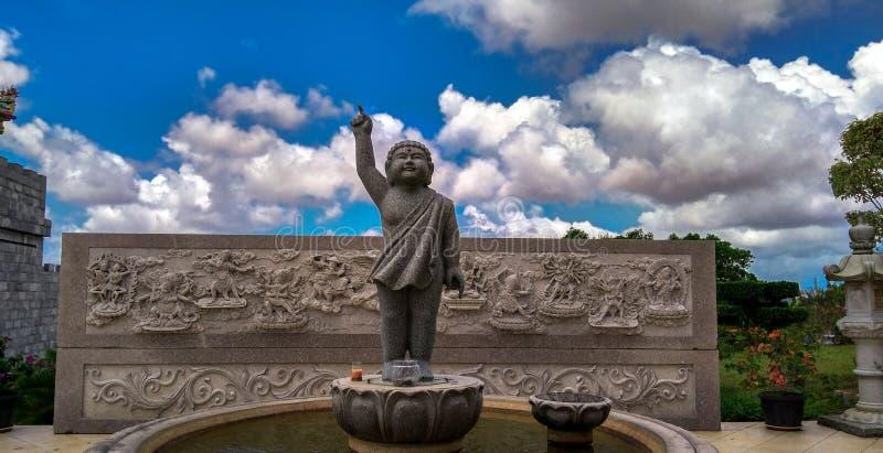 Statua del tempio di Lohan fotografie stock