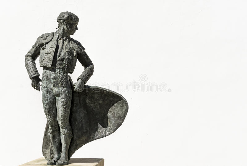 Statua del torero o del toreador in Spagna fotografie stock