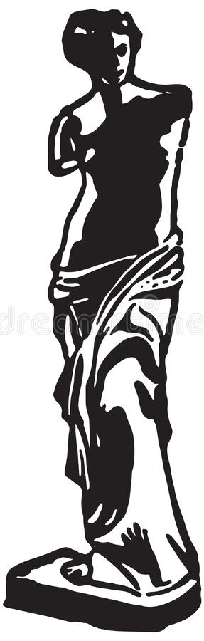 Statua del Venus de Milo illustrazione di stock