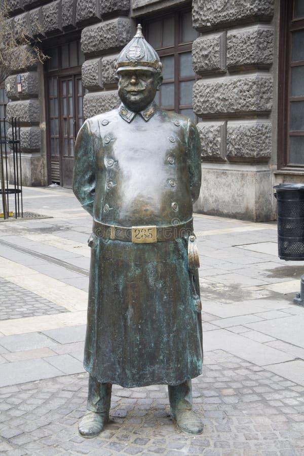 statua del vigile del fuoco fotografia stock libera da diritti