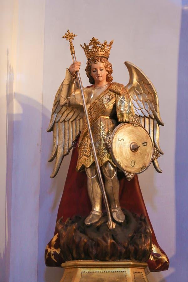 Statua dell'arcangelo Michael fotografia stock