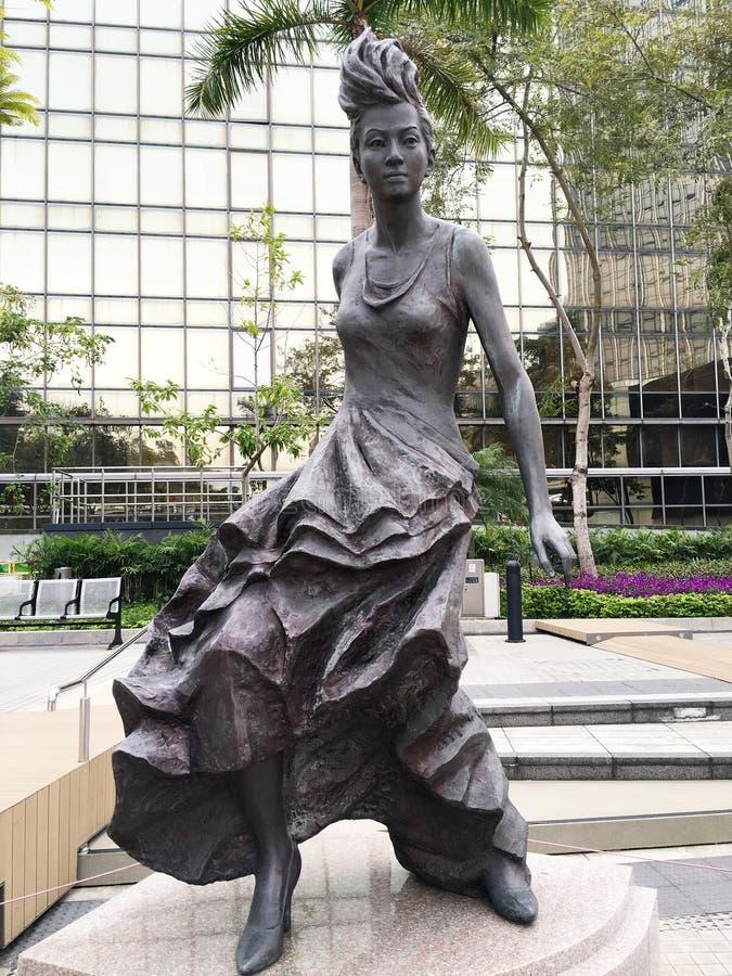 Statua dell'attrice Anita Mui in Hong Kong fotografie stock