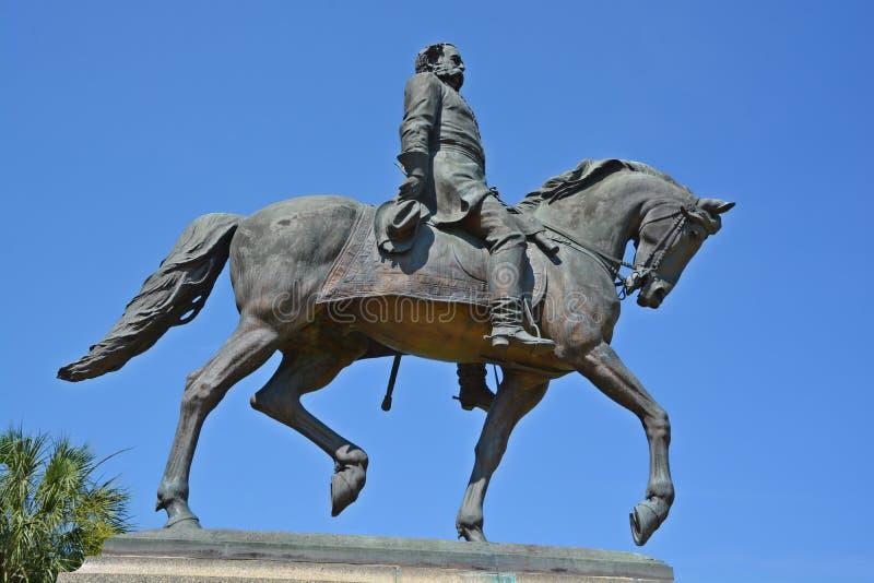 Statua dell'equites di Wade Hampton III immagini stock libere da diritti