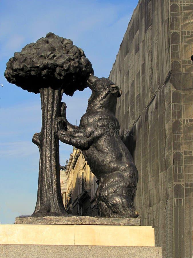 Statua dell'orso e del corbezzolo, Madrid, Spagna fotografia stock libera da diritti