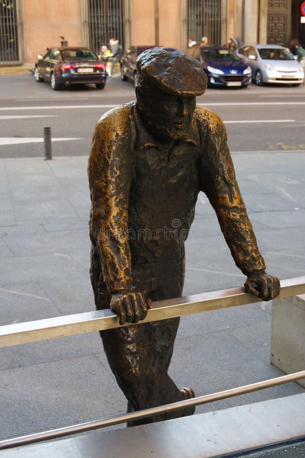 Statua dell'uomo, Madrid, Spagna immagini stock