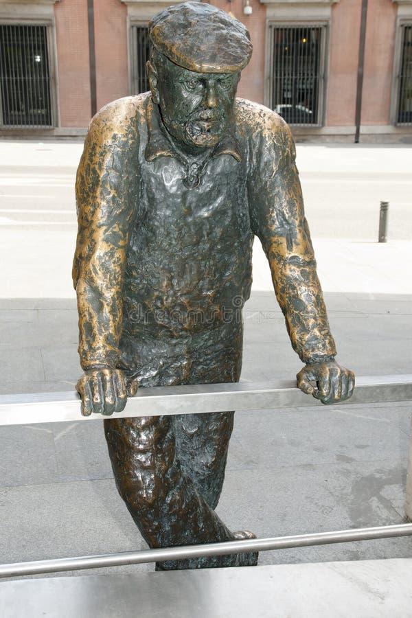 Statua dell'uomo - Madrid - Spagna fotografie stock libere da diritti