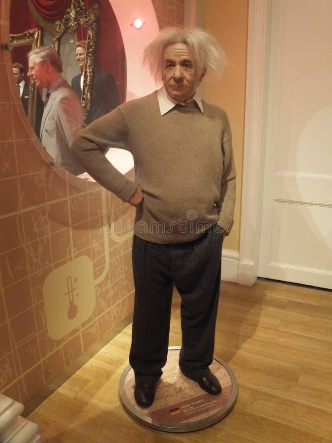 Statua della cera di Albert Einstein fotografia stock