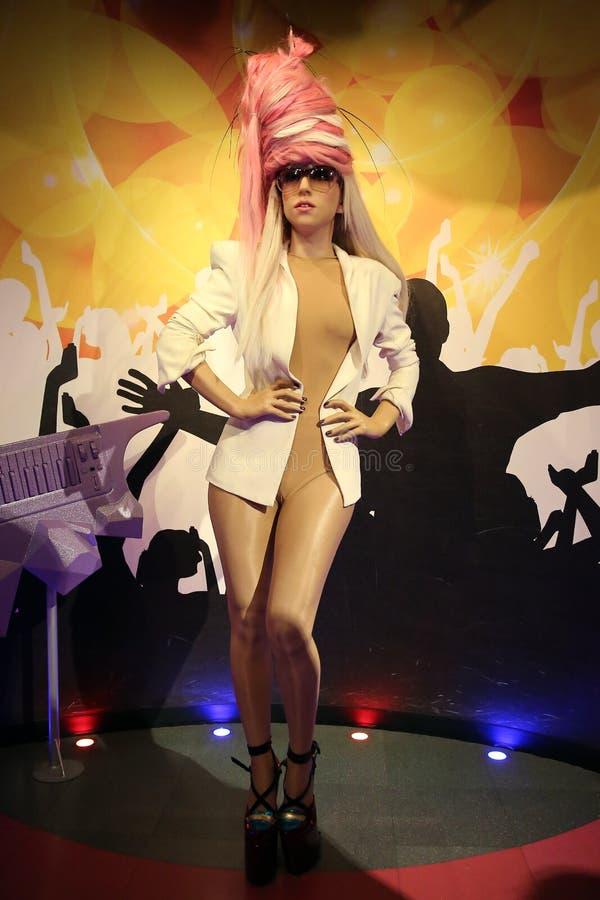 Statua della cera di signora Gaga fotografia stock libera da diritti