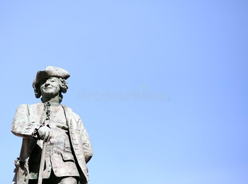 Statua della colonna del Nelson a Venezia in Italia fotografie stock