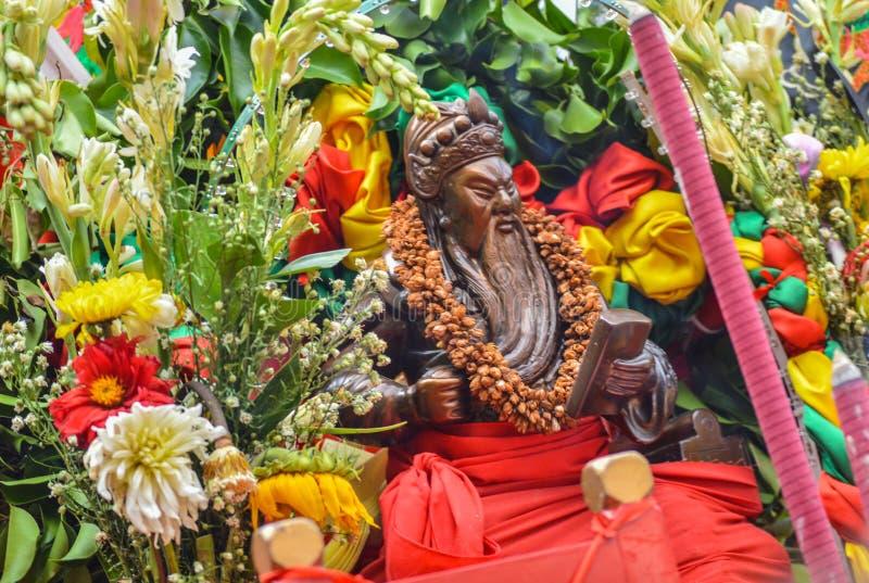 Statua della dea cinese nella celebrazione del nuovo anno immagine stock libera da diritti