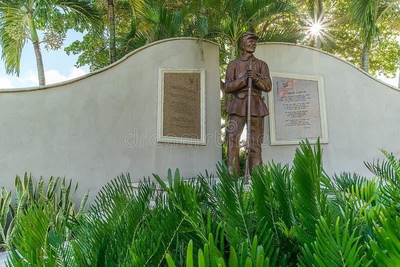 Statua della guerra civile - Lee County Florida fotografia stock