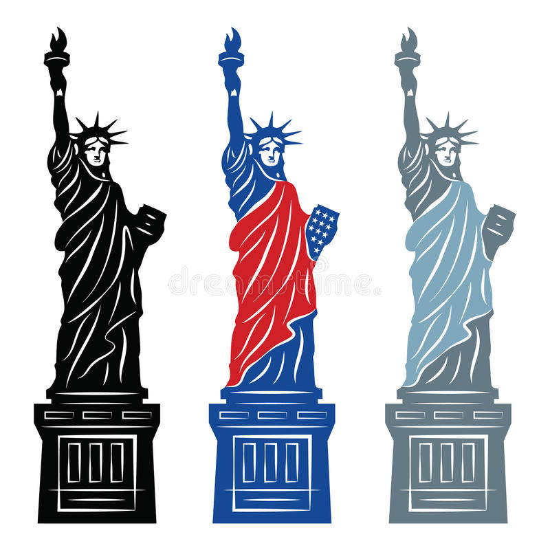 Statua della libertà illustrazione vettoriale