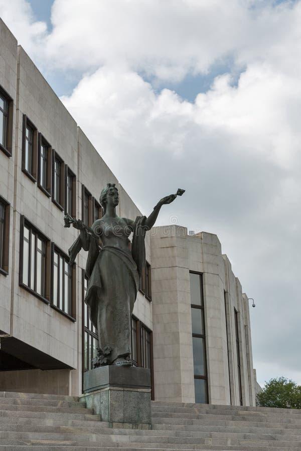 Statua della libertà a Bratislava, Slovacchia fotografia stock