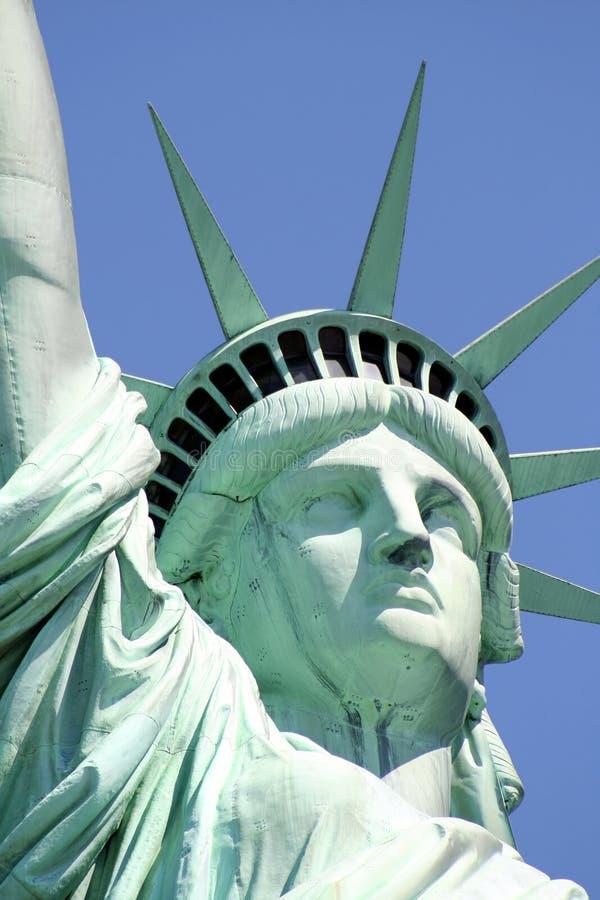 Statua della libertà del primo piano immagini stock