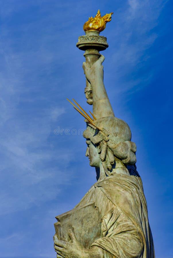 Statua della Libertà a Parigi, Francia fotografia stock