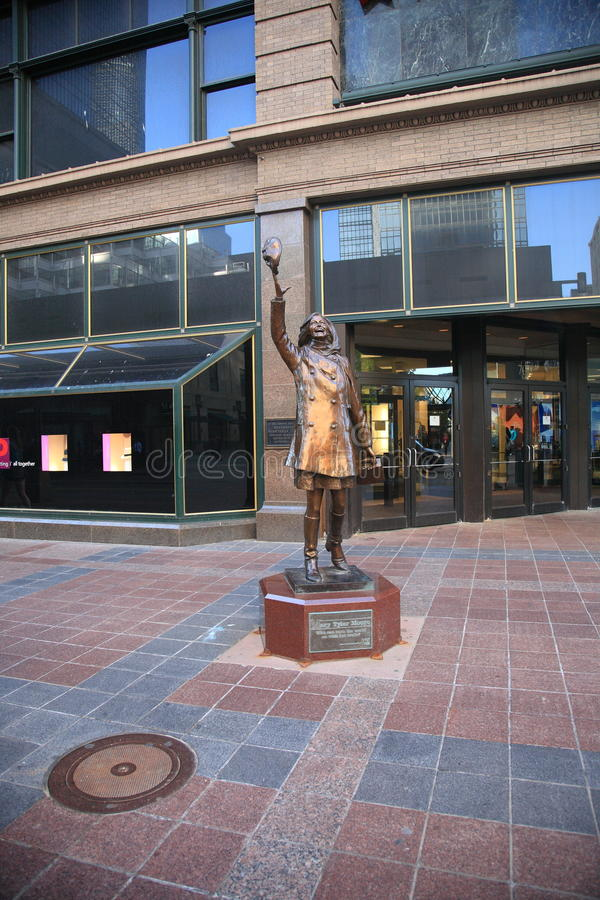 Statua della Mary Richards - Minneapolis fotografia stock libera da diritti