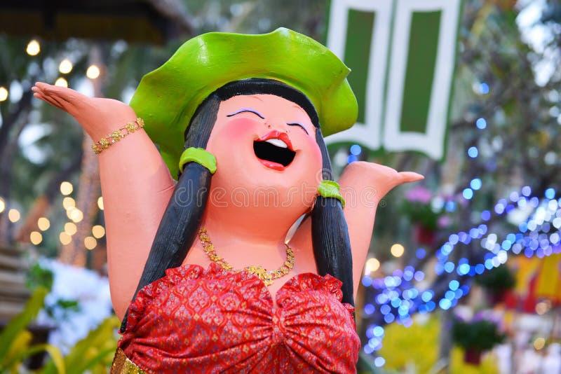 Statua della ragazza di Haapy Hawai fotografie stock