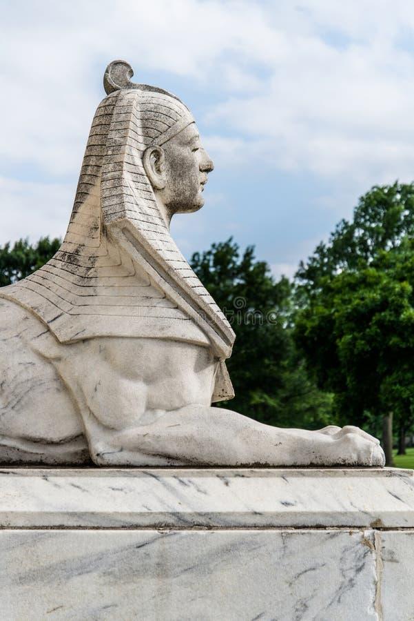 Statua della Sfinge dell'Egitto fotografie stock