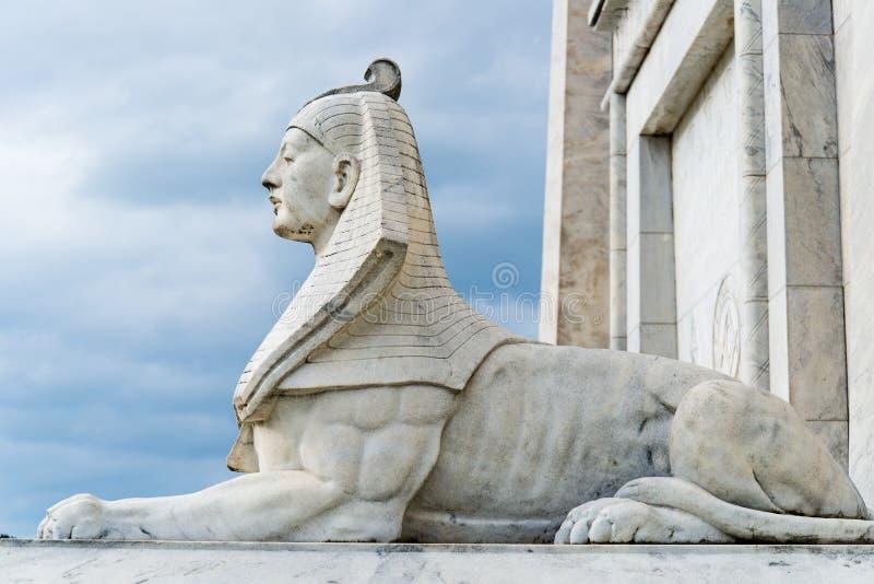 Statua della Sfinge dell'Egitto fotografie stock libere da diritti