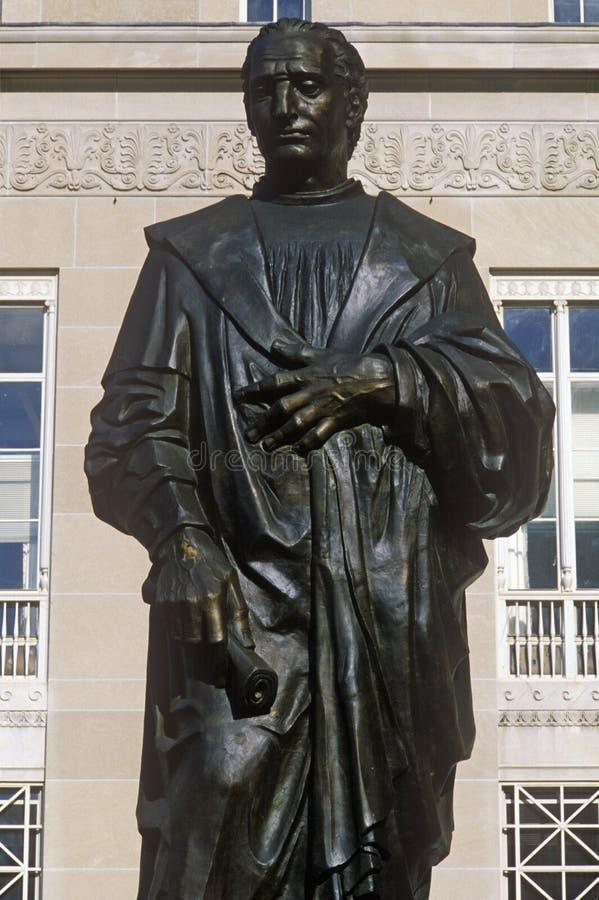 Statua della statua di Christopher Columbus, Columbus, OH fotografia stock