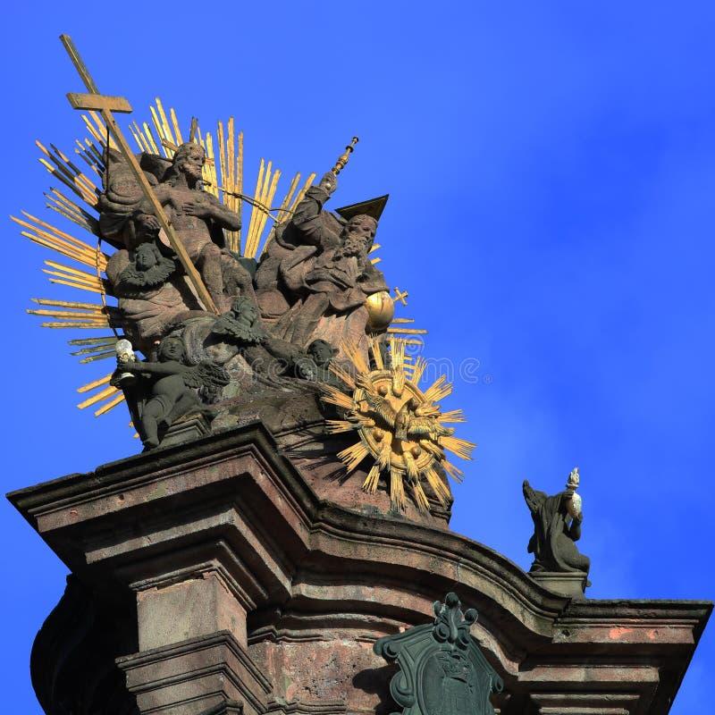 Statua della trinità santa, colonna di peste immagini stock