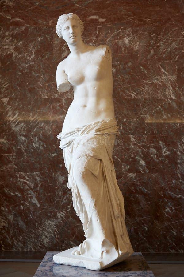 Statua della Venere di Milo nel museo del Louvre, Parigi fotografia stock