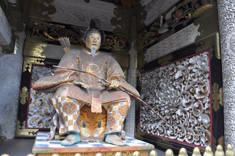 Statua dello shogun Ieyasu al santuario di Toshogu, Nikko immagini stock libere da diritti