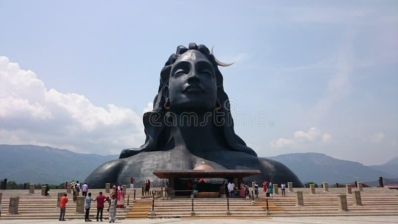 Statua di Adiyogi, più grande busto nel mondo, fondamento di Isha fotografia stock libera da diritti