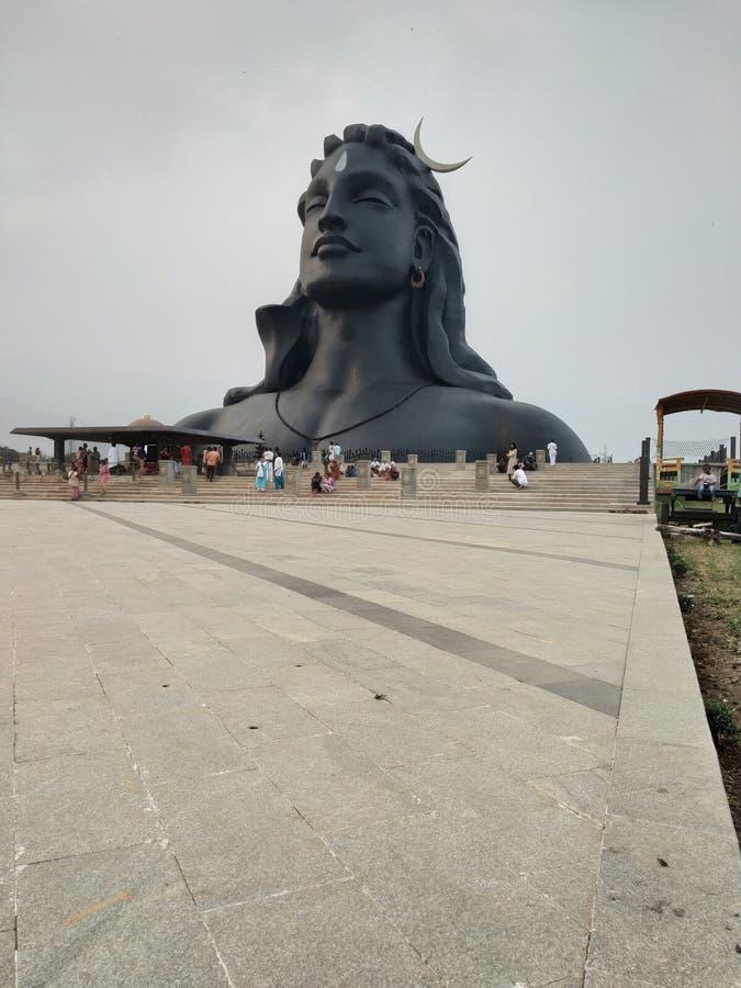 Statua di Adiyogi/Shiva fotografie stock