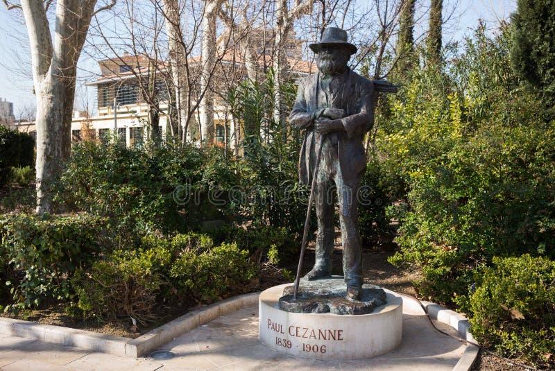 Statua di Aix-en-Provence di Paul Cezanne immagini stock