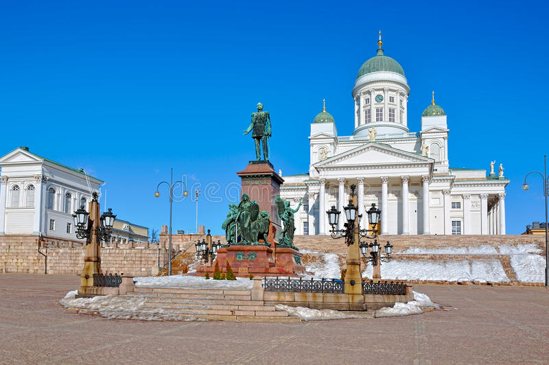 Statua di Alexander tsar russo II fotografie stock