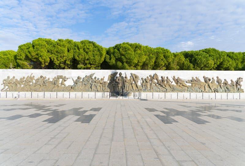 Statua di Ataturk al memoriale dei martiri di Canakkale Dardanelles a Gallipoli fotografia stock