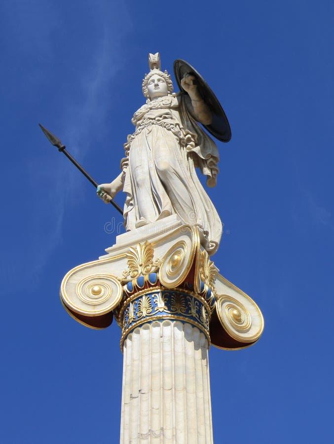 Statua di Athena in Grecia fotografie stock