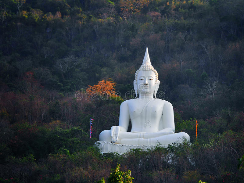Statua di Buddha alla Tailandia immagine stock