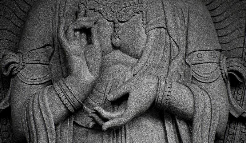 Statua di Buddha con i mudras o i gesti fotografia stock