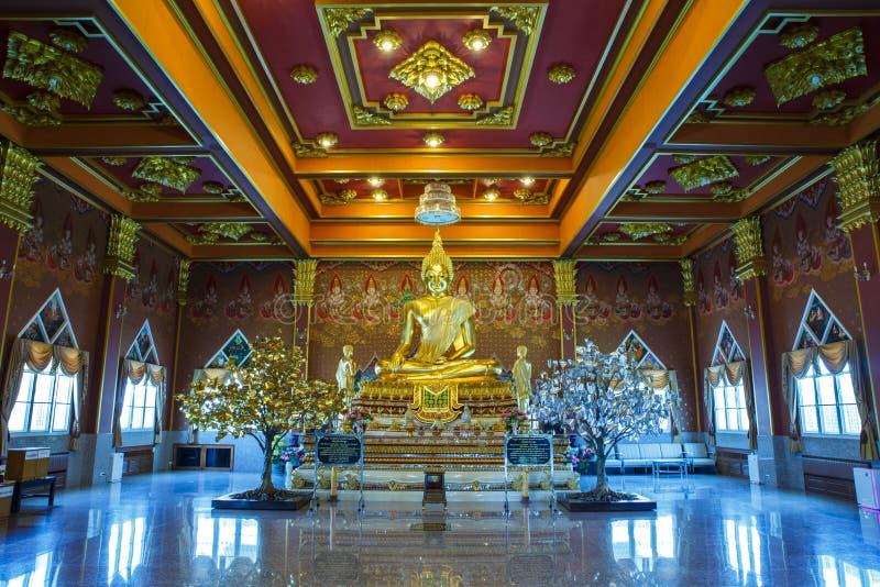 statua di Buddha del ฺGold fotografia stock