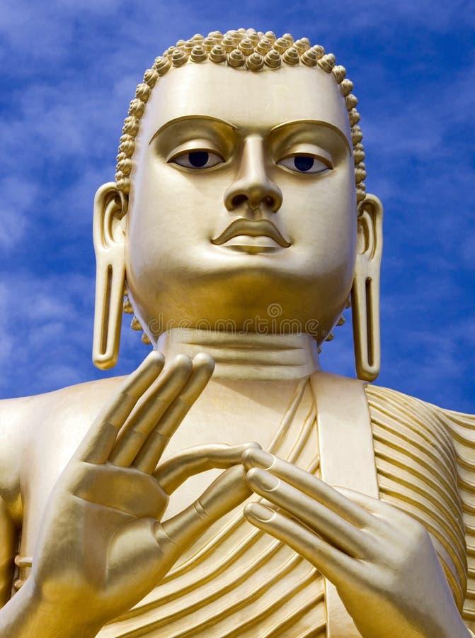 Statua di Buddha del gigante - Dambulla - Sri Lanka fotografie stock libere da diritti