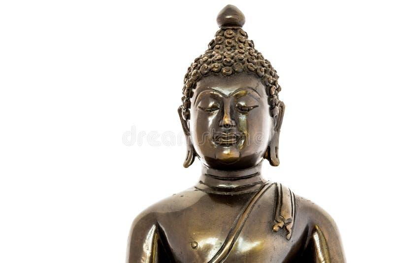 Statua di Buddha del primo piano in chiagmai Tailandia fotografia stock
