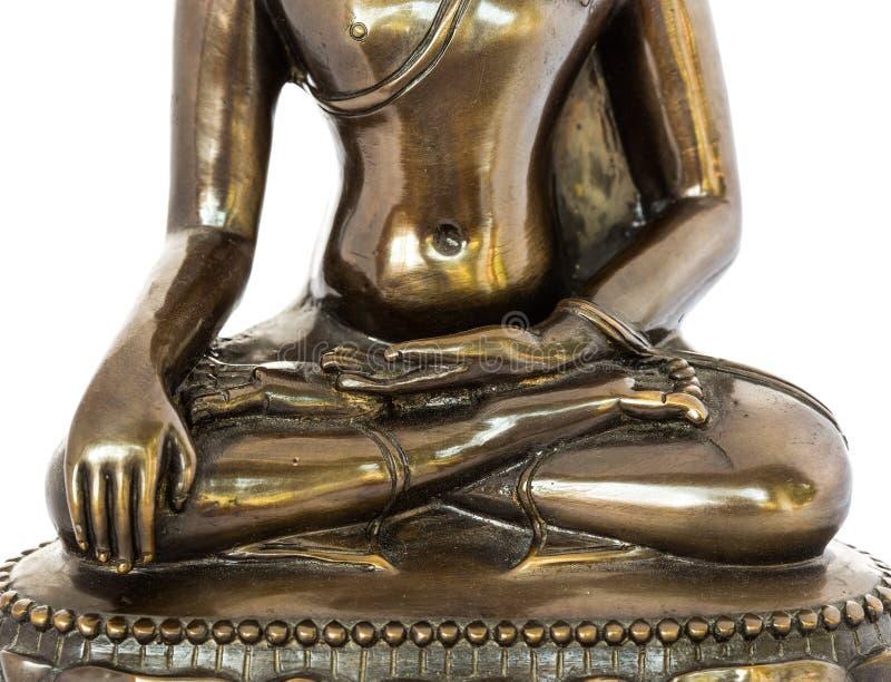 Statua di Buddha del primo piano in chiagmai Tailandia fotografia stock libera da diritti