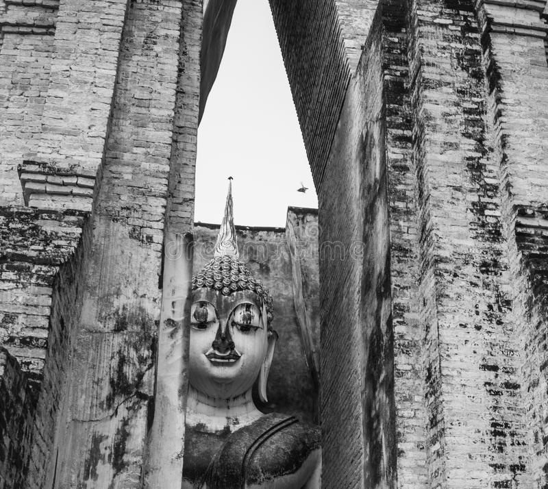 Statua di Buddha in Sukhothai, Tailandia fotografia stock