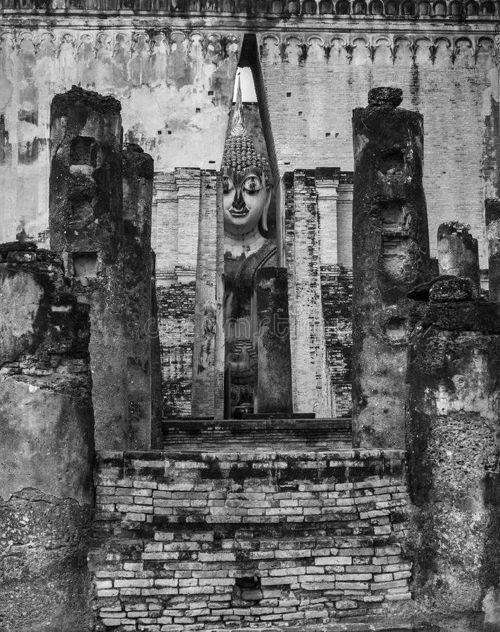 Statua di Buddha in Sukhothai, Tailandia fotografia stock libera da diritti