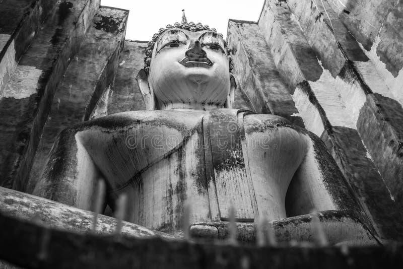 Statua di Buddha in Sukhothai, Tailandia immagine stock