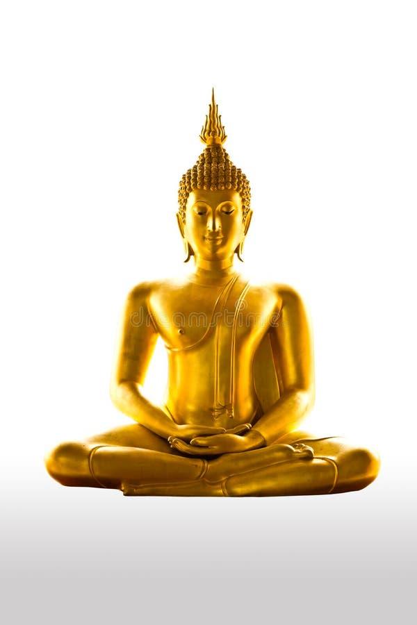 Statua di Buddism isolata fotografia stock libera da diritti