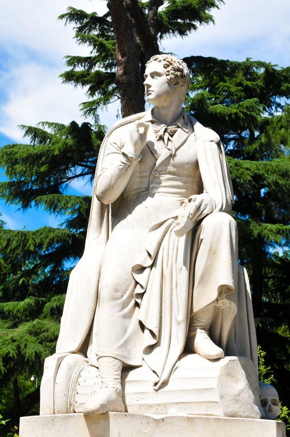 Statua di Byron fotografie stock